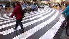 Polémica en Galicia por un descomunal paso de peatones