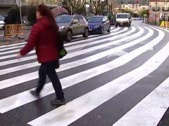 Paso de peatones descomunal