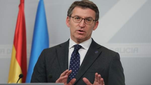 Alberto Núñez Feijóo en rueda de prensa tras el Consello de la Xunta