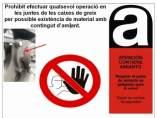 Aviso por posible presencia de amianto en la web monográfica de TMB.