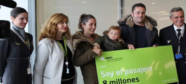 El Aeropuerto de Ibiza recibe este jueves al pasajero 8 millones, cifra nunca antes registrada en ...