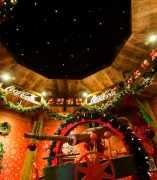 Interior de La Casa de la Navidad, de Coca-Cola, en la Real Casa de Postas.