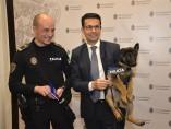 Stan Lee, miembro de la unidad canina de la Policía de Granada