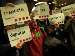 Protesta de Mossos