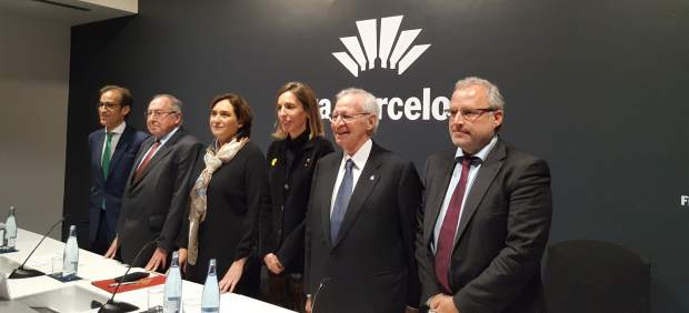 P.Relat, J.L.Bonet, A.Colau, À.Chacón, M.Valls y C.Serrallonga.