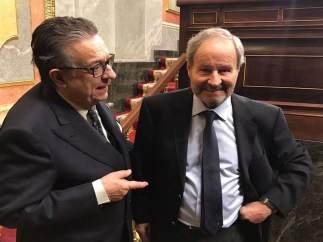 José Ignacio Llorens, con Miguel Herrero de Miñón el 6 de diciembre