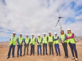 Visita al Parque Eólico del Complejo Medioambiental de Arico