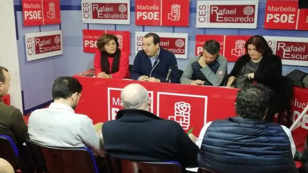 Jose Luis Ruiz Espejo y Jose Bernal en reunion comarcal en la Costa del Sol O