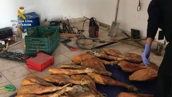Desarticulado un grupo criminal dedicado al robo de jamones en Teruel