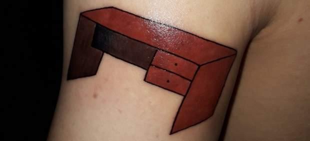 La promesa más loca de un fan de River Plate: se tatúa una mesa por ganar la Copa Libertadores