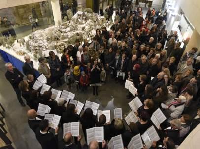 Inauguración del belén monumental de la Diputación de Huesca