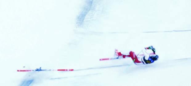 La terrible caída del esquiador Marc Gisin en el descenso del Val Gardena