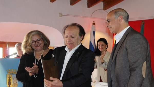 Javier Marías recoge el premio en Zafra