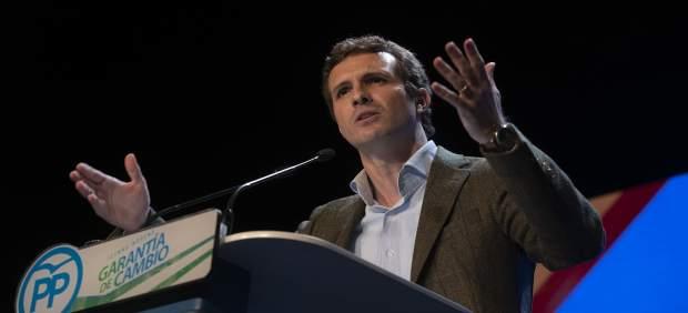 Mitin del presidente del PP, Pablo Casado, en Lucena, Córdoba