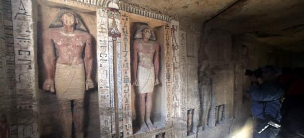 Hallan en Egipto una tumba