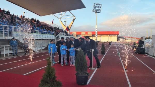 Inauguración de las pistas de atletismo de Villafranca