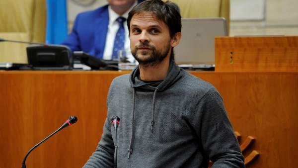 Álvaro Jaen, en la Asamblea