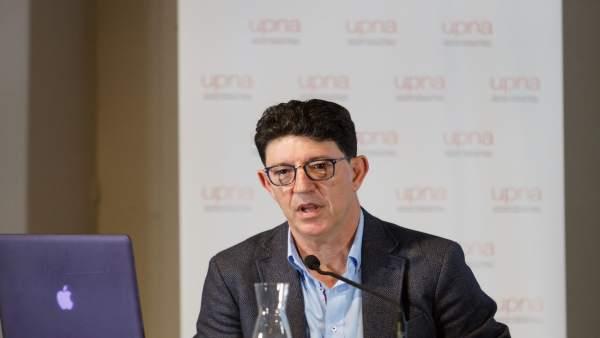 Florencio Monje Gil, durante la conferencia