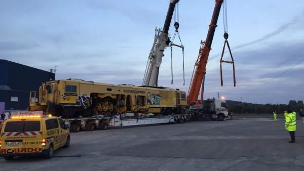 Obras del ramal ferroviario Linares-Vadollano
