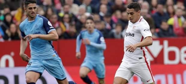Sarabia y André Silva brillan en el triunfo del Sevilla ante el Girona