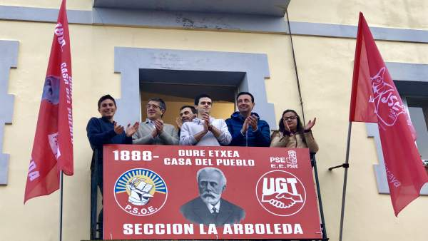 Patxi López en en aniversario de la Agrupación Socialista de La Arboleda