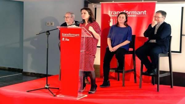 La vicesecretaria del PSOE, en un acto del PSIB en Ibiza