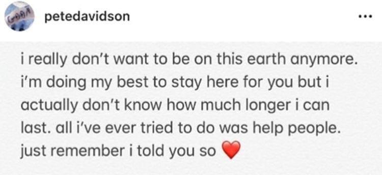 El alarmante mensaje que publicó el actor en su cuenta de Instagram.
