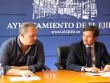 El portavoz del PP en el Ayuntamiento y el alcalde de El Ejido