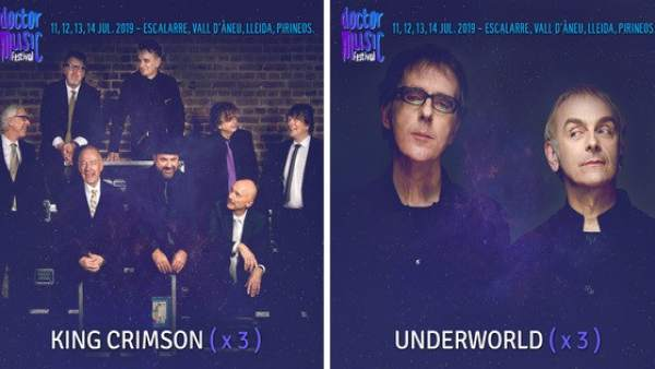 King Crimson y Underworld, en el Doctor Music Festival