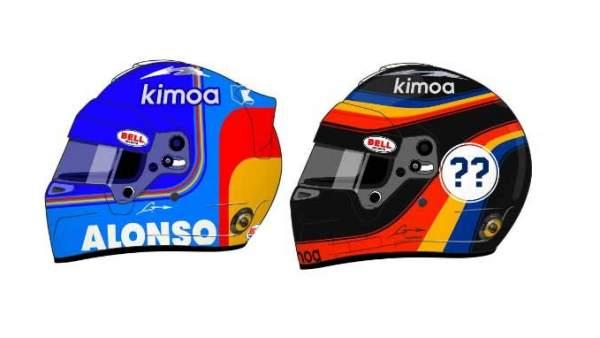 Cascos de Fernando Alonso