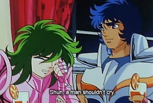 Una escena del anime 'Saint Seiya'