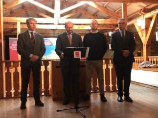 Pedro Rollán, Ángel Garrido, Jaime de lo Santos y Carlos Izquierdo