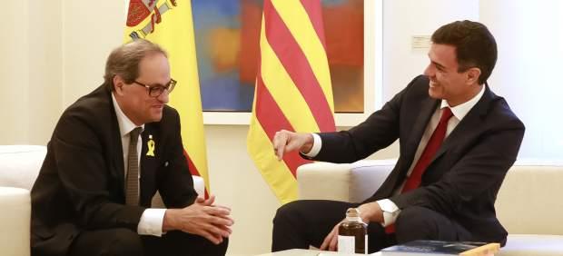 Sánchez evita comentar la propuesta de Torra para reunirse también con 'consellers' y ministros