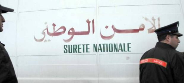 Imagen de un coche de la policía marroquí