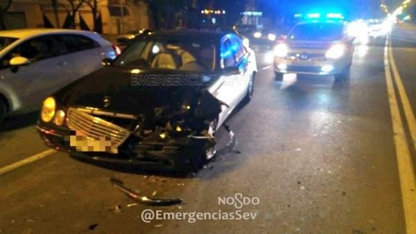 Accidente en la Avenida de la Paz de Sevilla