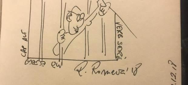 Tardá entrega a Sánchez un libro de Romeva, dedicado desde prisión para