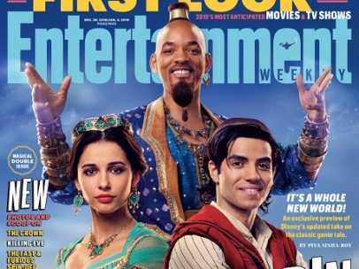 Portada de la revista con las primeras imágenes de la película de acción real de 'Aladdin'.