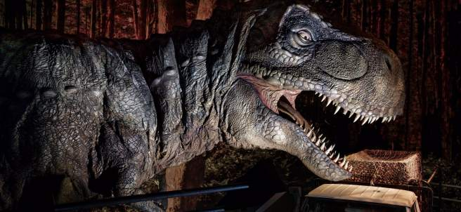 Un T-Rex en 'Jurassic World Exhibition'