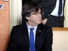 El expresidente de la Generalitat Carles Puigdemont ofrece una rueda de prensa en Ginebra (Suiza).