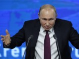 Vladimir Putin en una rueda de prensa antes de fin de año