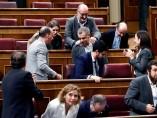 Diputados de Ciudadanos aplaudiendo a Cantó en el Congreso