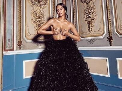 Cristina Pedroche, semidesnuda luciendo el traje de las campanadas 2018