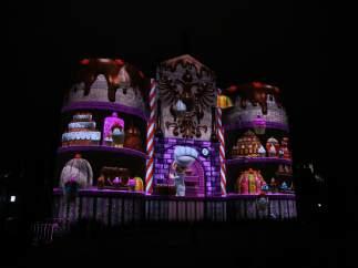 Imagen del espectáculo 'Toledo tiene estrella' en la Puerta de Bisagra