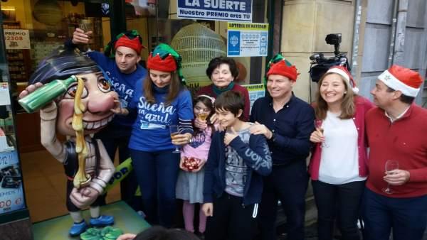 Celebración del 'Gordo' de 2018 que dejó 3 décimos 11 décimos en Asturias
