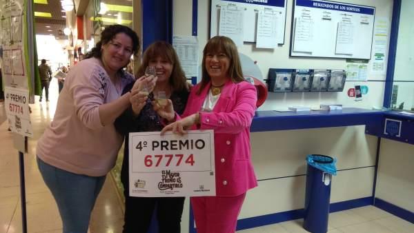 Cuarto premio 67774 vendido en Ciudad Real