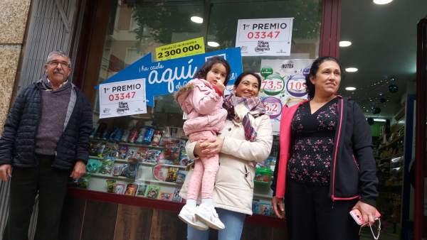 Las agraciadas con el 'Gordo' vendido en Badajoz