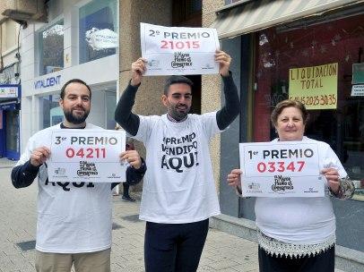 El Gordo, el segundo y el tercero, vendidos en la misma calle de Albacete