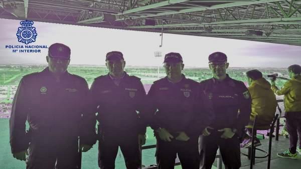 Policía Nacional y policía portuguesa en Huelva