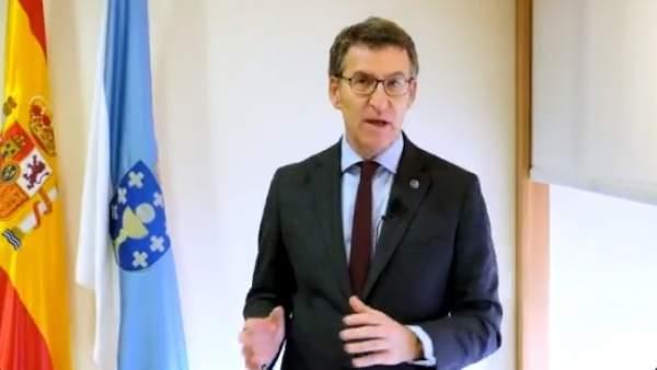 Alberto Núñez Feijóo felicita la Navidad y el Año Nuevo 2019 con un vídeo