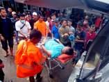 Heridos en el tsunami de Indonesia